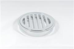 63985 100mm FL GRATE ROUND TO PVC C/P